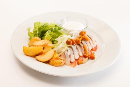 mayonesa: Matjes con patatas y mayonesa