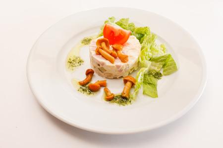 russian salad: Russian salad with mushrooms Stock Photo