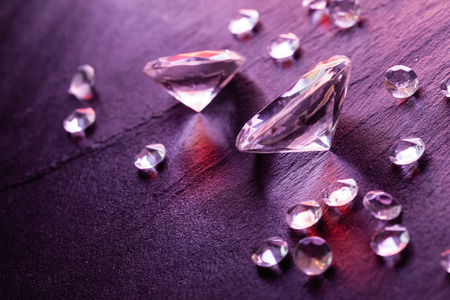 luxury background: differernt diamonds