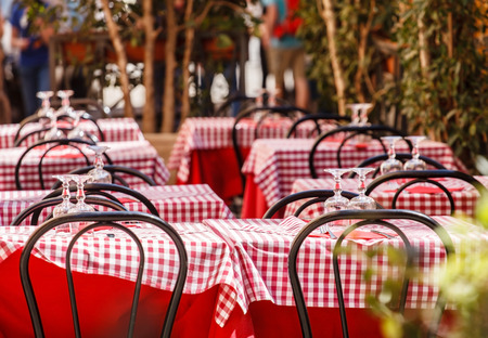 outdoor cafe Archivio Fotografico