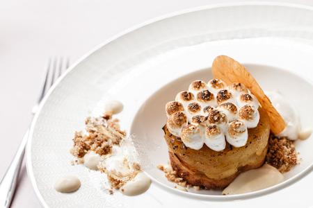 meringue: apple cake with meringue Stock Photo