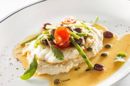 fish: White fish with cauliflower puree