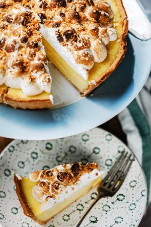 Meringue: meringue pie Stock Photo