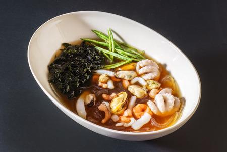 seafood soup: japanese seafood soup Stock Photo