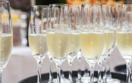 anteojos: gafas de champaña Foto de archivo
