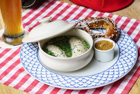 bavarian: bavarian white sausage Stock Photo