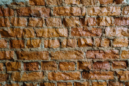 exterior architectural details: brick wall Stock Photo