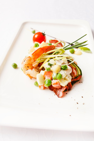 russian salad: Russian salad. Olivier Stock Photo