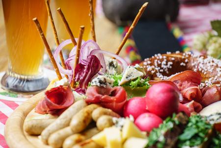 pretzel stick: oktoberfest appetizer Stock Photo