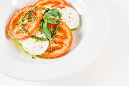 caprese: Caprese salad Stock Photo