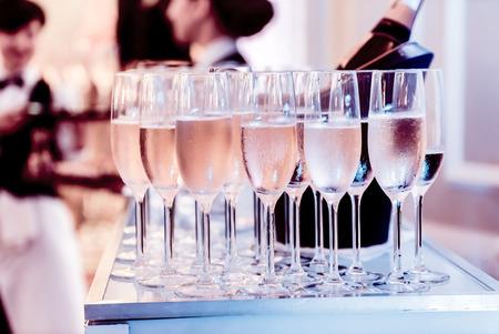 シャンパン グラス 写真素材