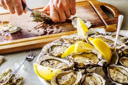 Geöffnete Austern