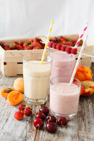 lit collection: fruit smoothies Stock Photo