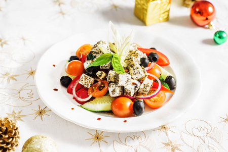 christmas catering: greek salad
