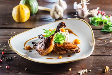sauce dish: roasted duck