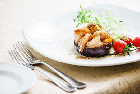 aubergine: stuffed aubergine
