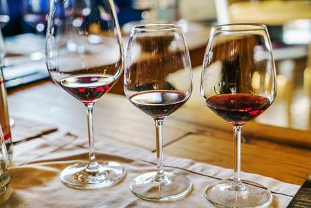 ワインの試飲 写真素材
