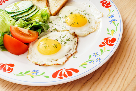 english cucumber: breakfast Stock Photo