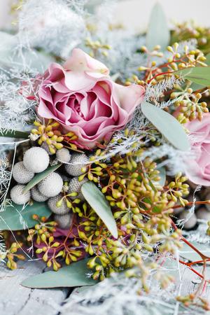 bouquet fleur: bouquet romantique