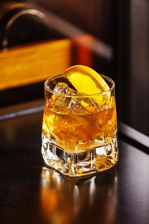 alcohol screwdriver: cocktail wiht orange