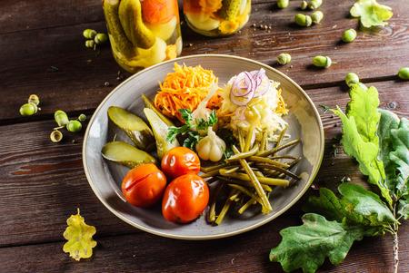 marinated: marinated vegetables