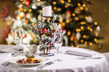 tree detail: Christmas dinner