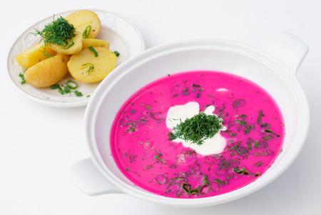 cold soup: cold soup Stock Photo