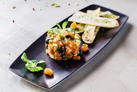 tartare: salmon tartare