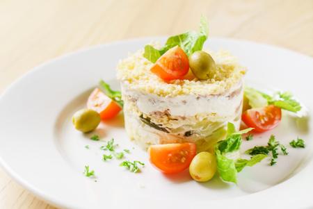 layered: Layered salad