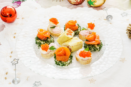 snack food: tasty canape