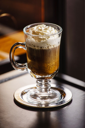 whipped: coffee with whipped cream
