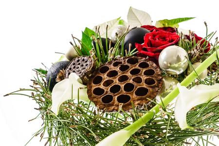 white winter: winter bouquet Stock Photo