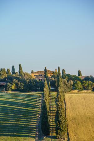 orcia: Tuscany landscape Stock Photo