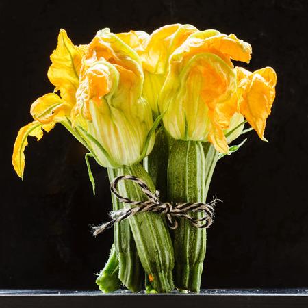 신선한 호박 꽃