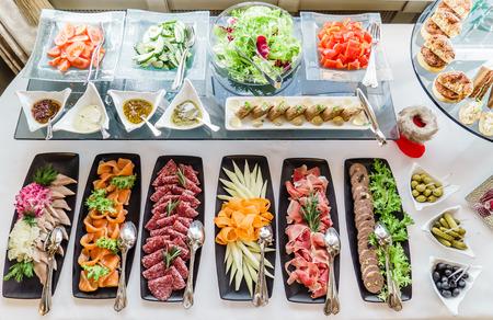 mesa de banquete de catering