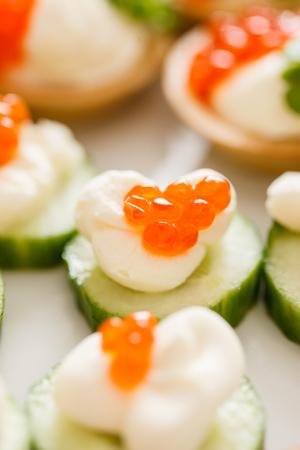 caviar: canape with caviar Stock Photo