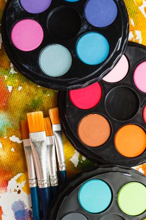 paints: watercolor paints Stock Photo