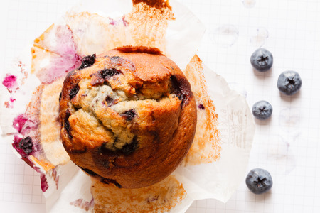 muffin: blueberry muffin
