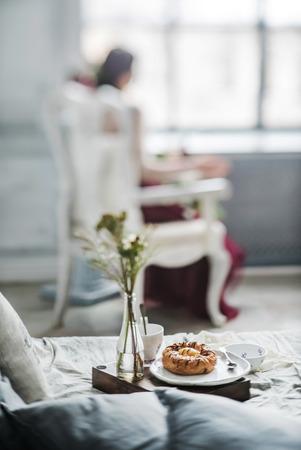 in loved: breakfast for loved women Stock Photo