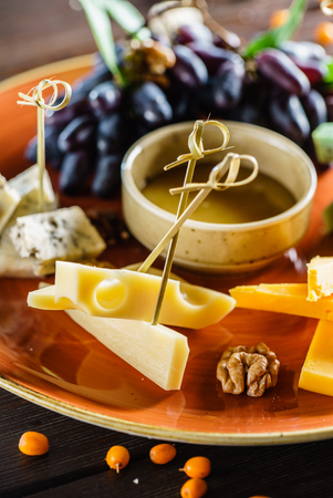 plate: cheese plate Stock Photo
