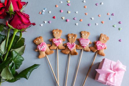 quarz: cookies for Valentine day Stock Photo