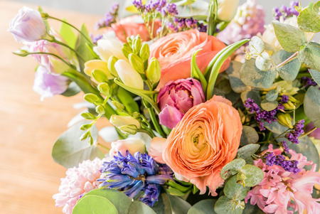 life event: spring bouquet
