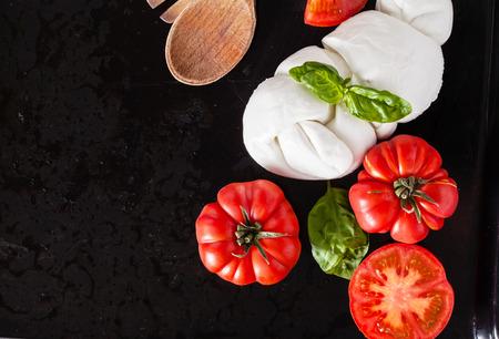 tomato with mozzarella Stock Photo