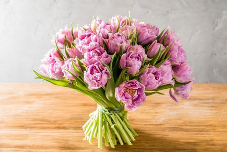 wonderful: pink tulips Stock Photo