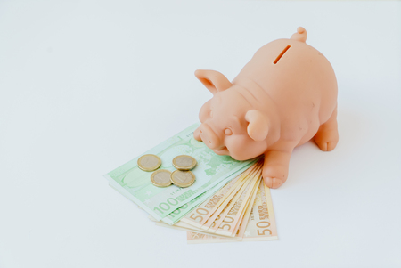 credit crunch: pig bank Stock Photo