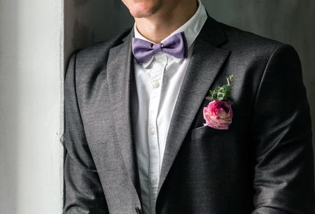 lapel: elegant groom