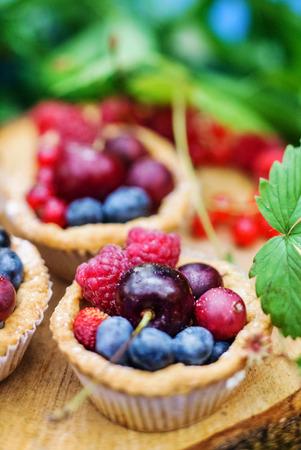 tarts: berry tarts Stock Photo