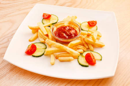 macdonald: French Fries with ketchup
