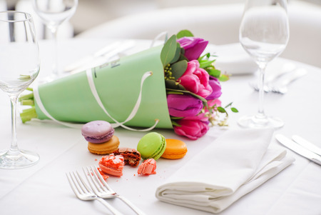 on the table: Easter table