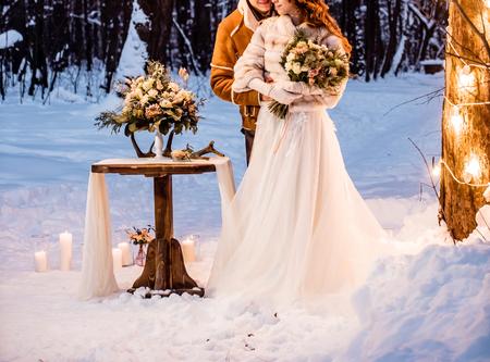 winter wedding 스톡 콘텐츠
